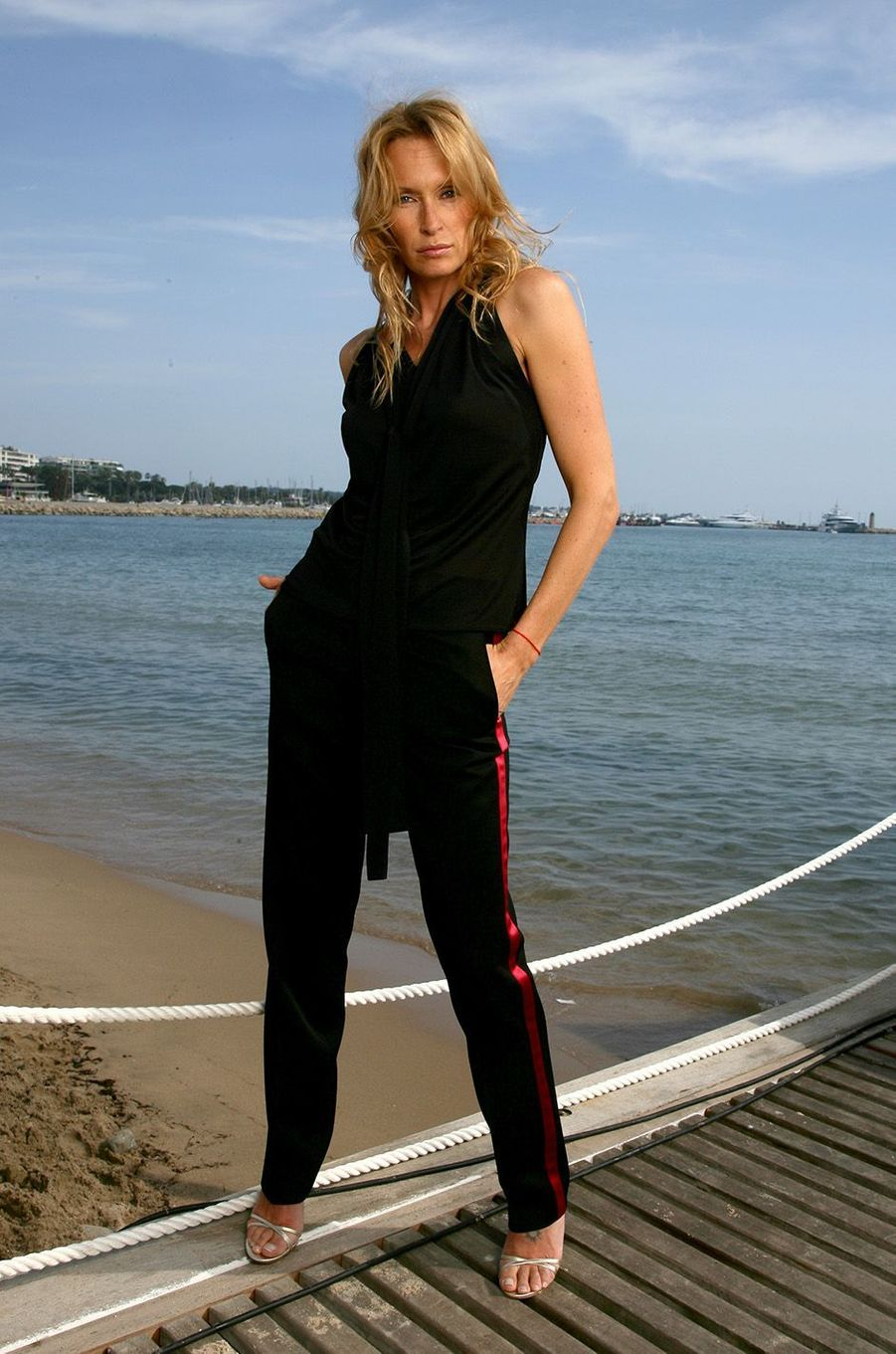 Estelle à Cannes, en 2006