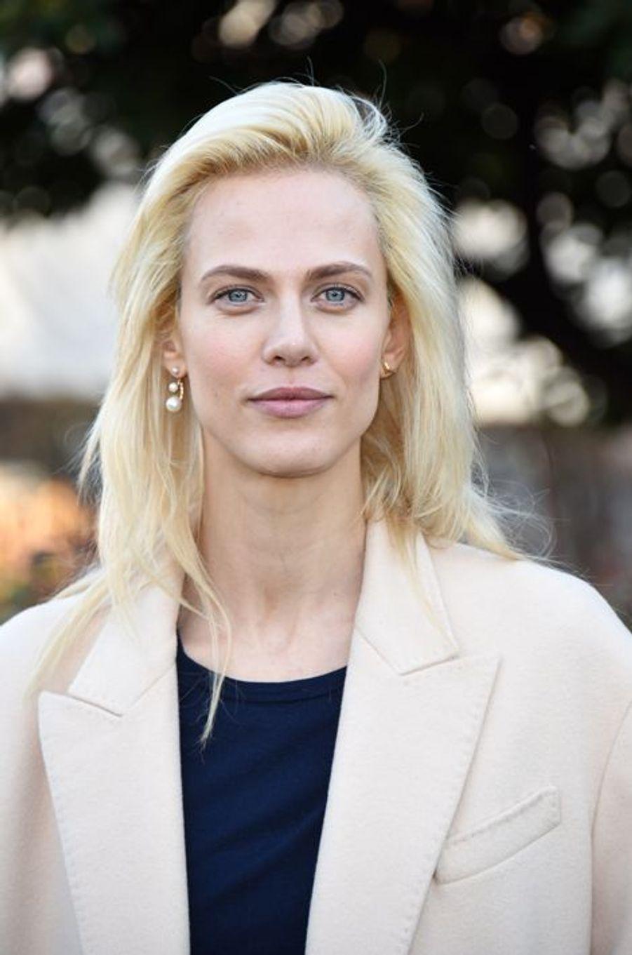 Aymeline Valade au défilé Christian Dior