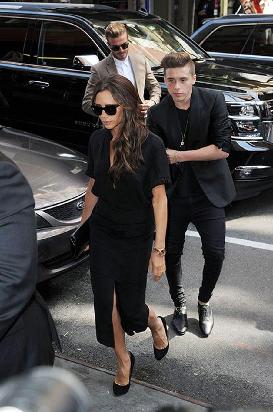 Victoria, Brooklyn et David Beckham