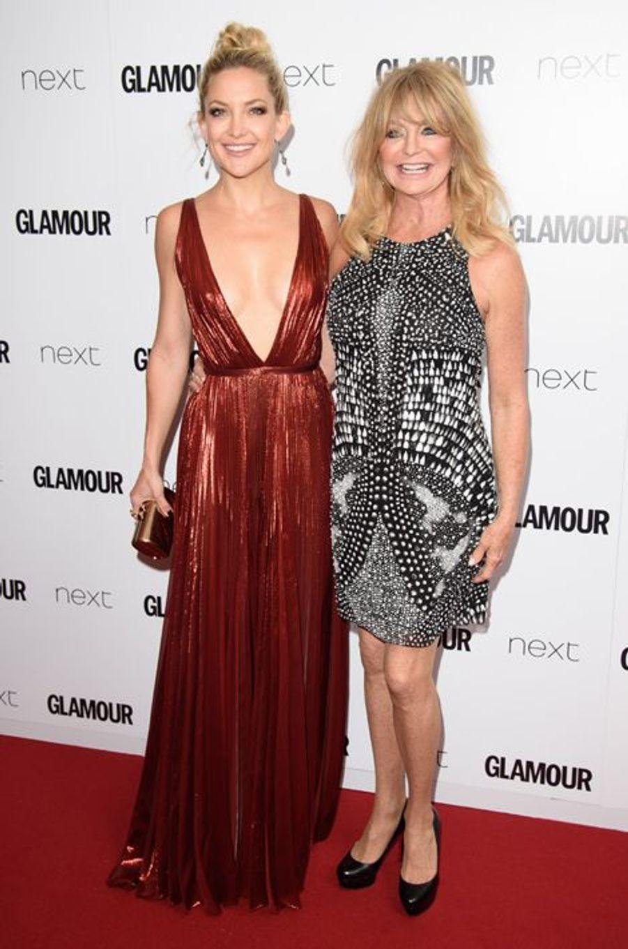 Kate Hudson et Goldie Hawn à Londres le 2 juin 2015