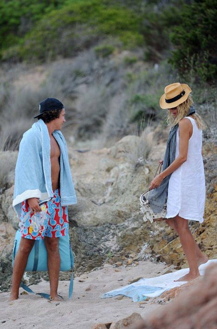 Heidi Klum et Vito Schnabel à Porto Cervo le 30 juillet 2015