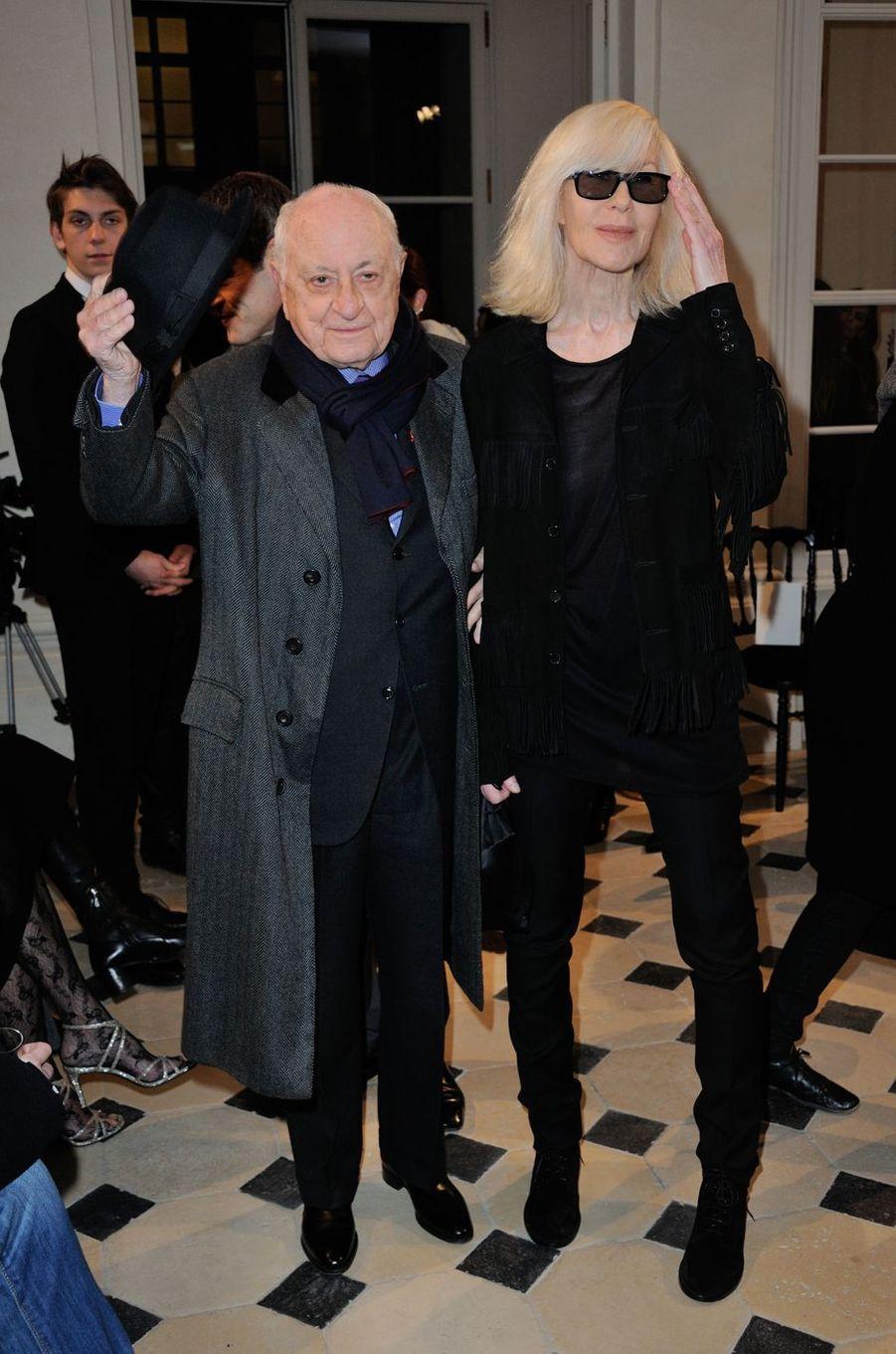 Pierre Bergé et Betty Catroux à Paris le 7 mars 2016