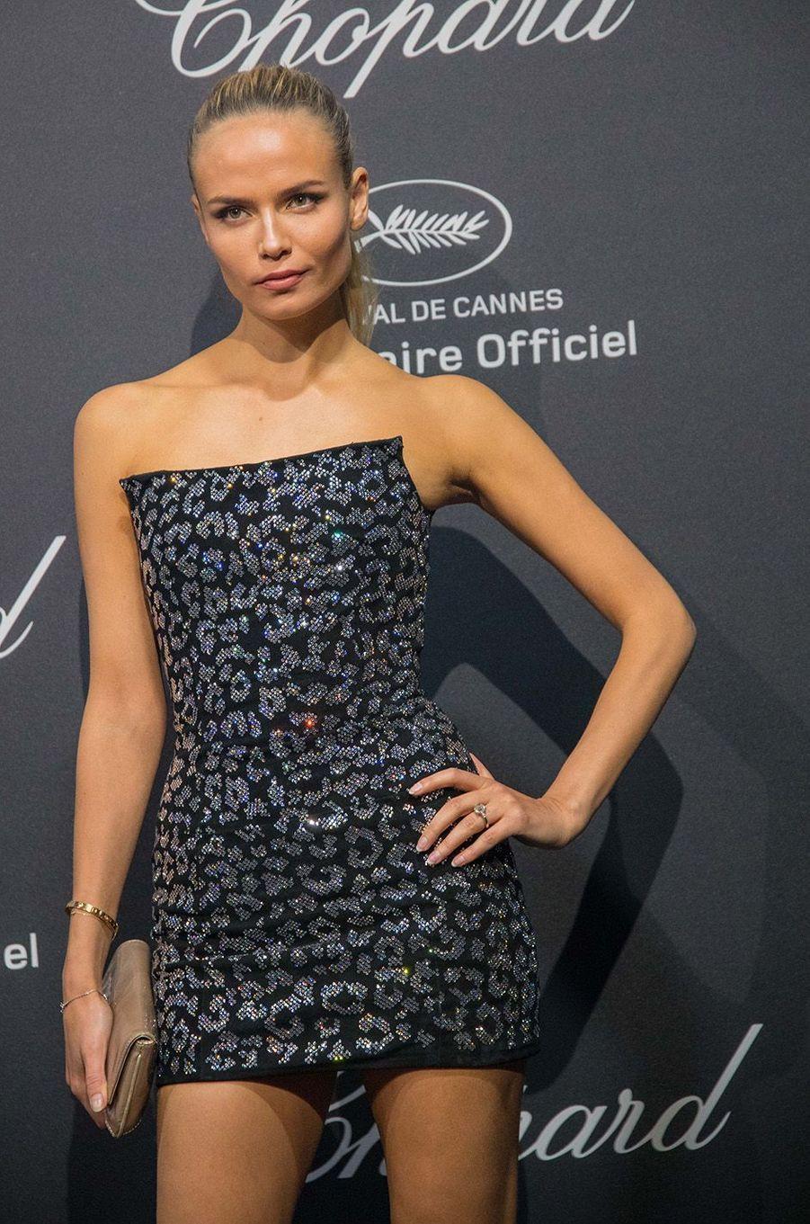Natasha Poly au gala Chopard, à Cannes, le 16 mai 2016.