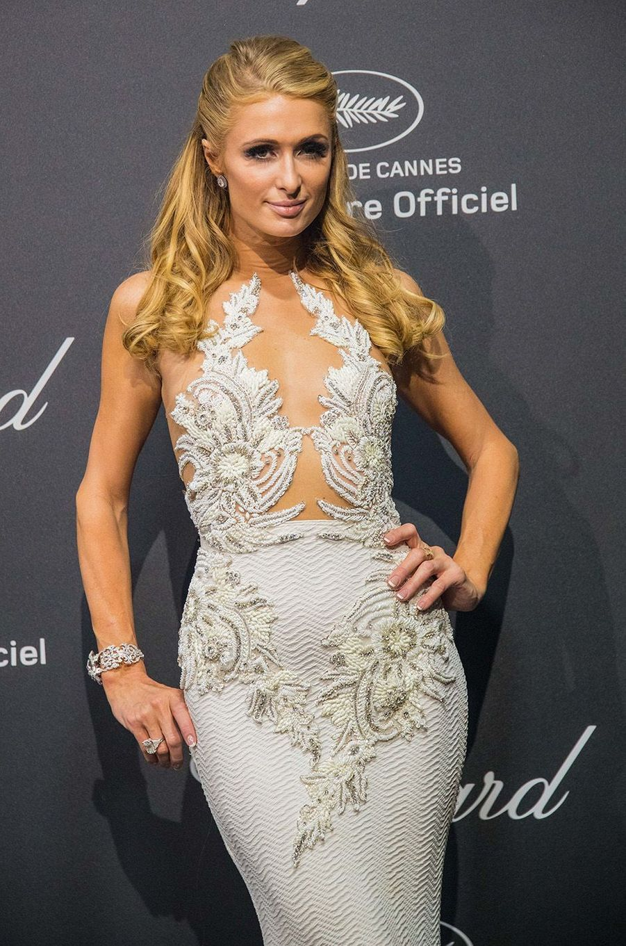 Paris Hilton au gala Chopard, à Cannes, le 16 mai 2016.