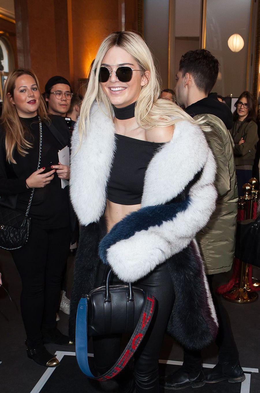 Kendall Jenner à Paris le 3 mars 2016