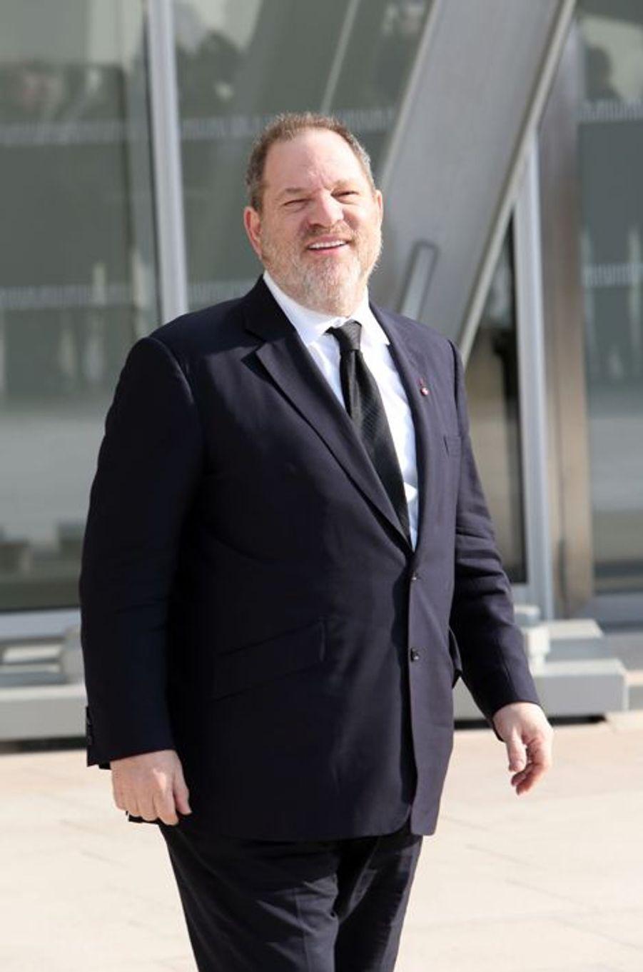 Le producteur Harvey Weinstein au défilé Louis Vuitton