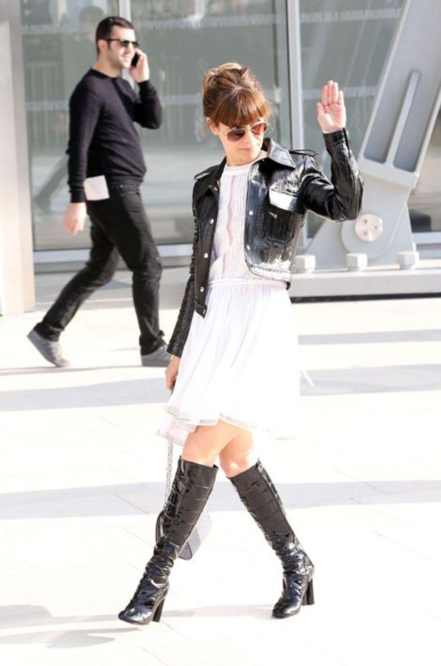 Marina Foïs au défilé Louis Vuitton