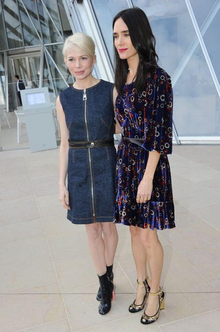 MIchelle Williams et Jennifer Connelly au défilé Louis Vuitton