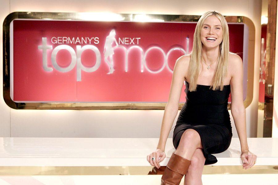 """Sur le plateau de l'émission """"Germany's Next Supermodel"""", en novembre 2005"""