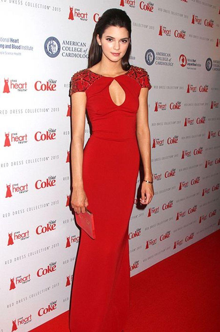 """À la soirée """"The Heart Truth's Red Dress Collection"""" à New York le 6 février 2013"""