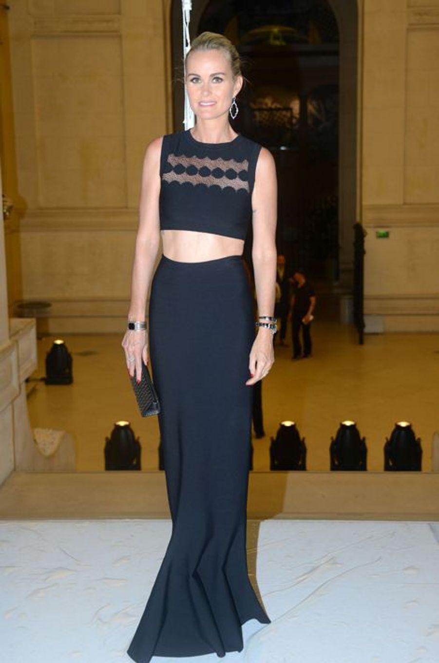 Laeticia Hallyday à Paris le 7 juillet 2015