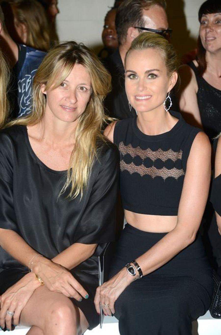 Sarah Lavoine et Laeticia Hallyday à Paris le 7 juillet 2015
