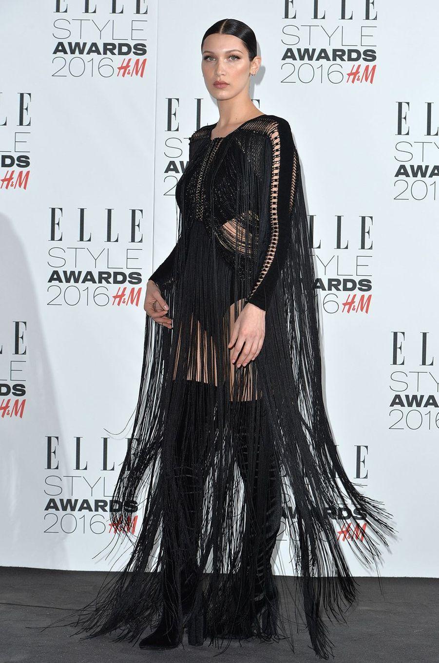 Bella Hadid à Londres le 23 février 2016