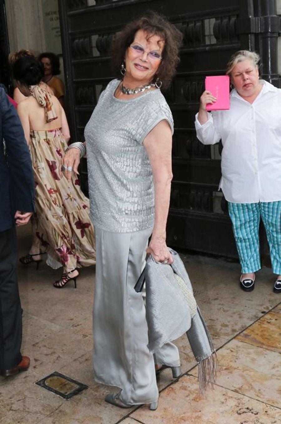 Claudia Cardinale à Paris le 7 juillet 2015