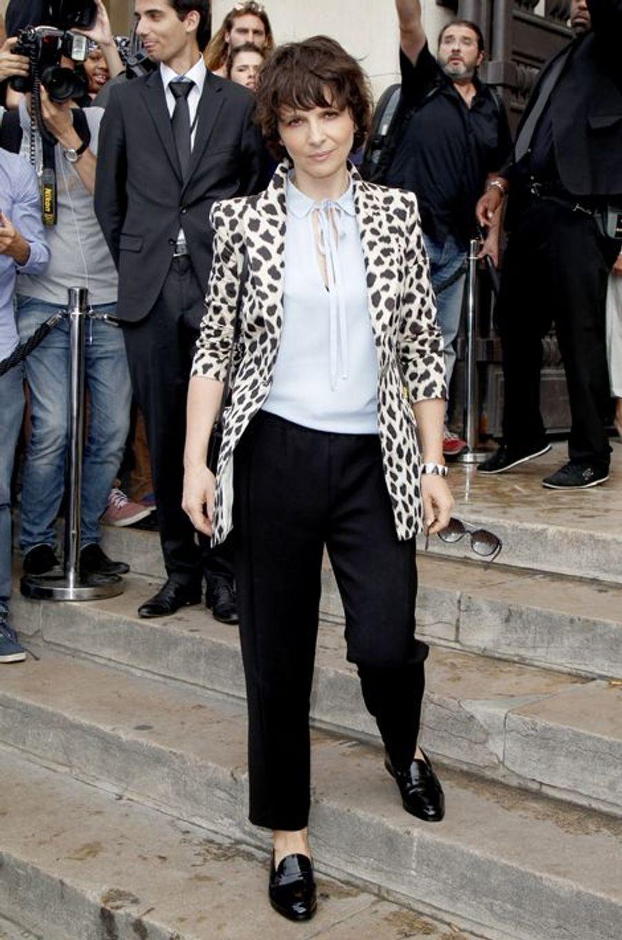 Juliette Binoche à Paris le 7 juillet 2015