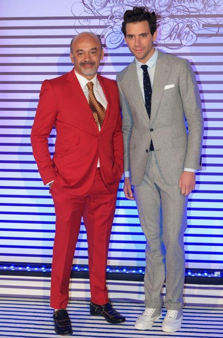 Christian Louboutin et Mika à Paris le 30 mars 2015