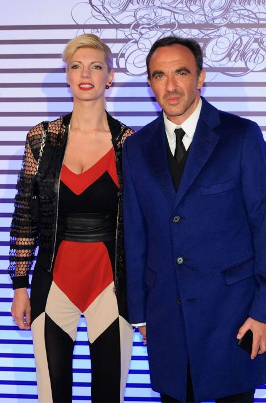 Tina Grigoriou et Nikos Aliagas à Paris le 30 mars 2015