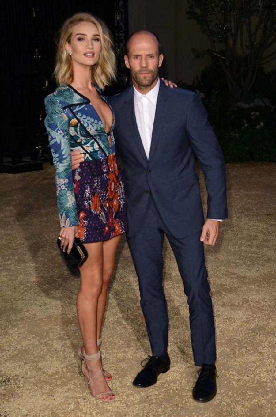 Rosie Huntington-Whiteley et Jason Statham à Los Angeles le 16 avril 2015