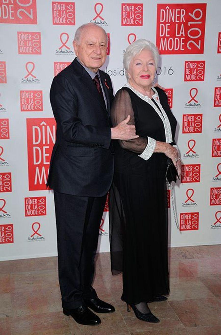 Pierre Bergé et Line Renaud