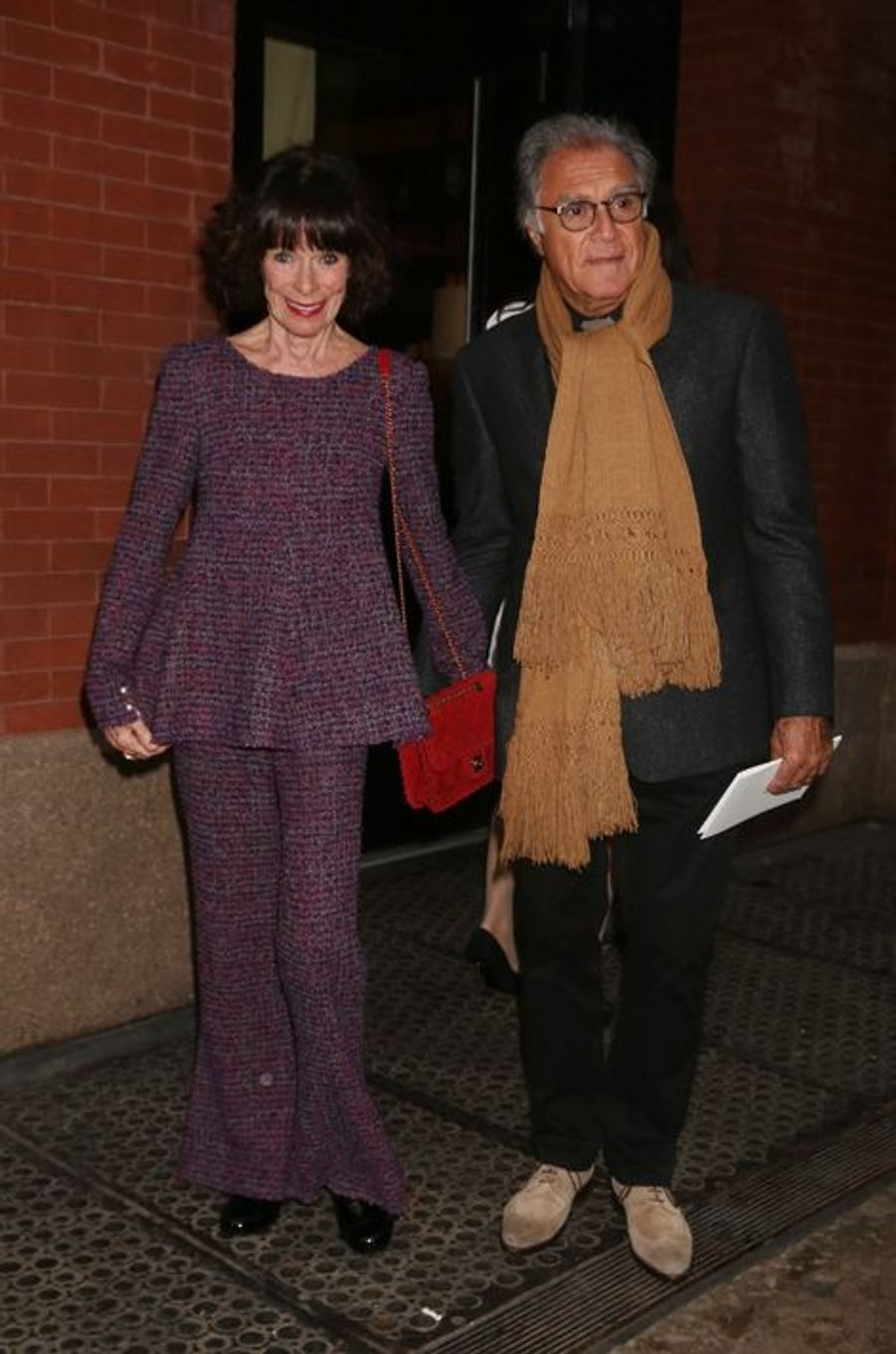 Geraldine Chaplin et son mari Patricio Castilla
