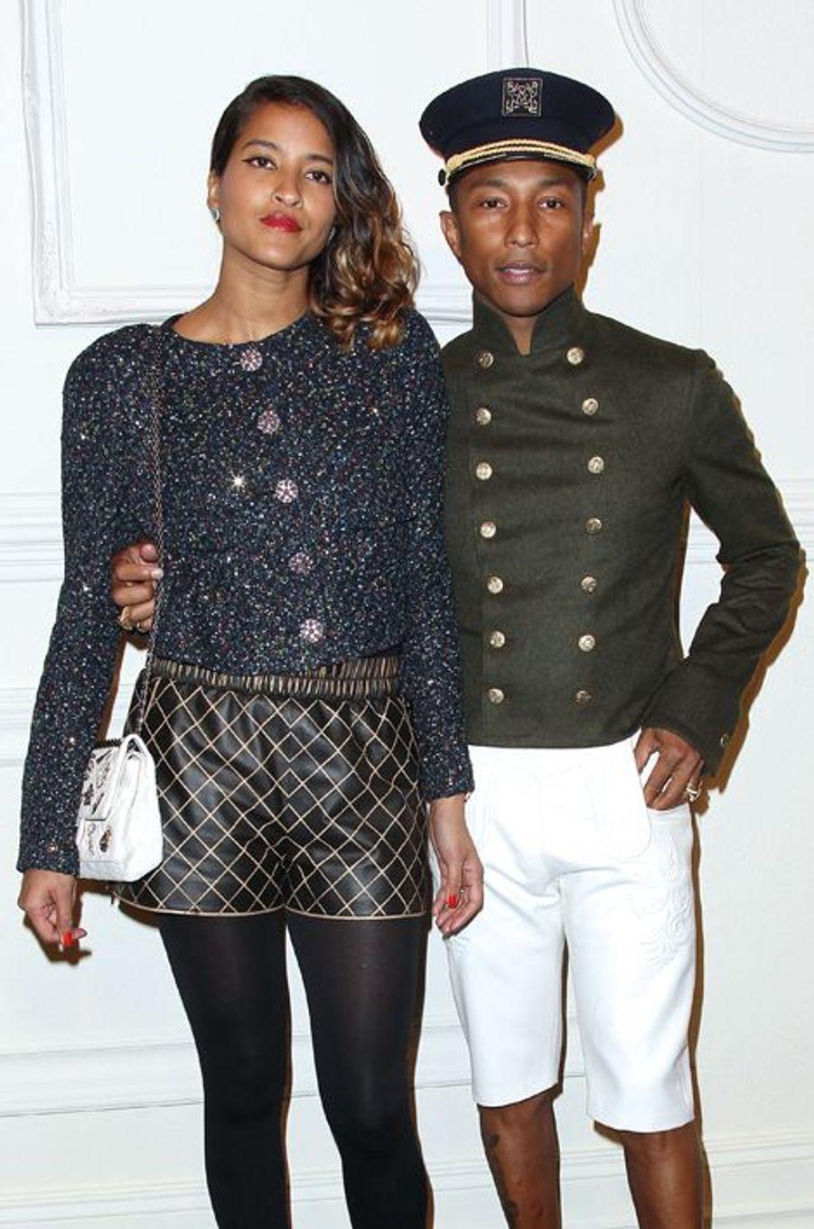 Pharrell Williams et sa compagne Helen Lasichanh