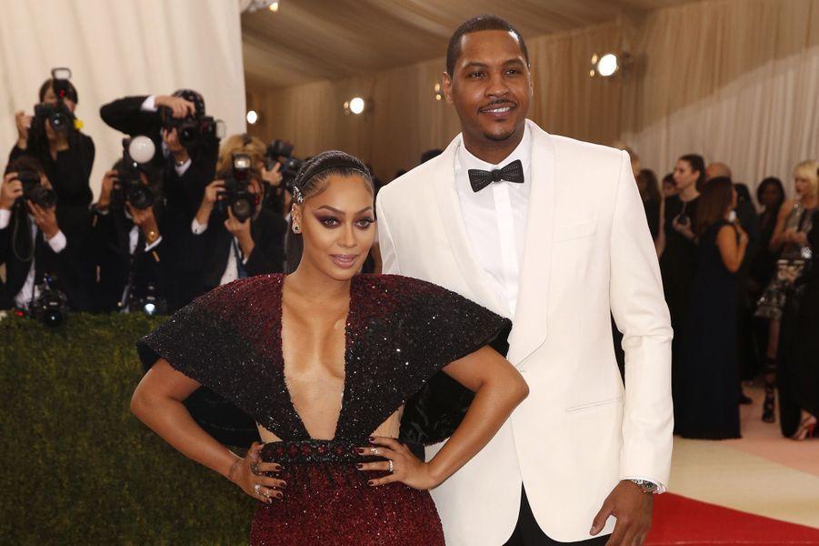Carmelo Anthony et son épouse au gala du MET, le 2 mai 2016