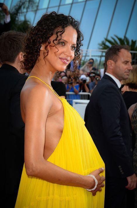 Noémie Lenoir, enceinte, au Festival de Cannes
