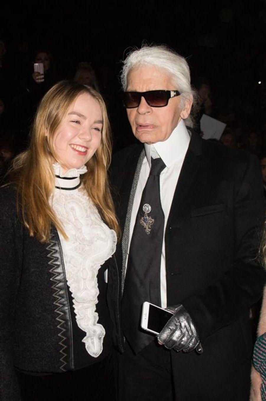 Alexandra de Hanovre et Karl Lagerfeld