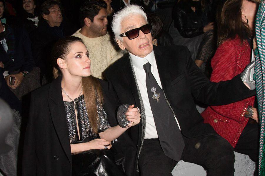 Kristen Stewart et Karl Lagerfeld