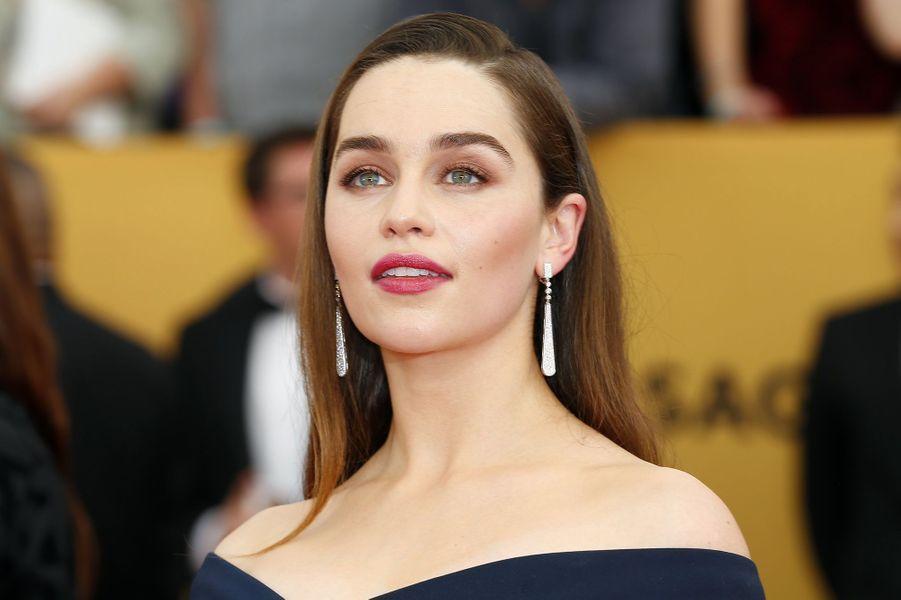 "Emilia Clarke, actrice star de la série ""Game of thrones""."