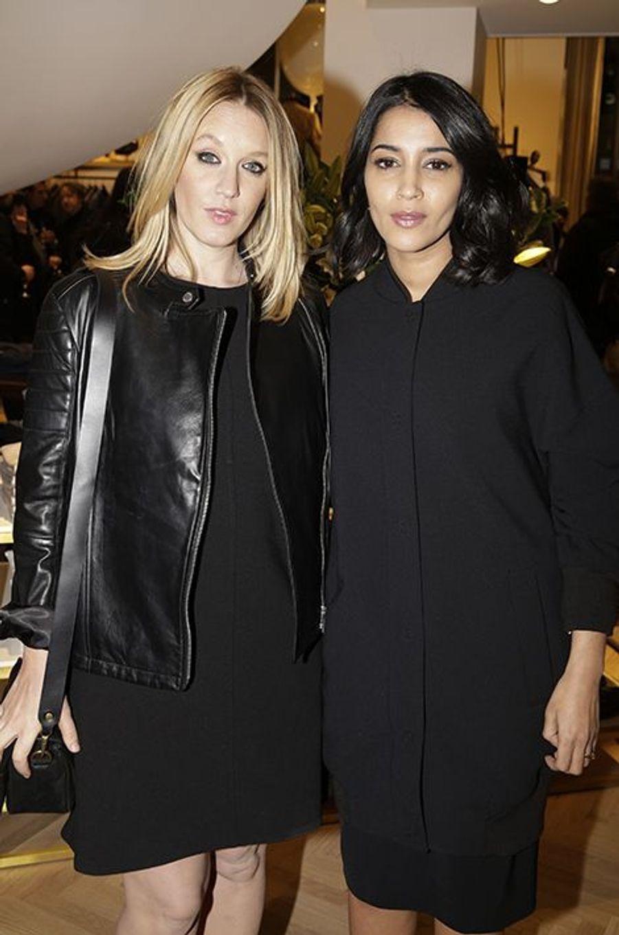 Ludivine Sagnier et Leïla Bekhti à Paris le 31 mars 2015