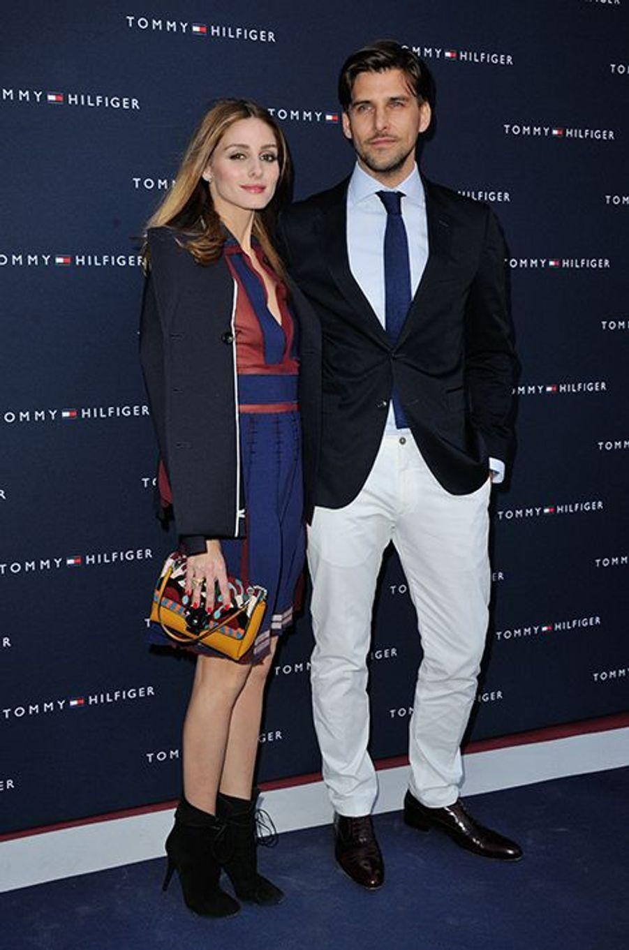 Olivia Palermo et Johannes Huebl à Paris le 31 mars 2015