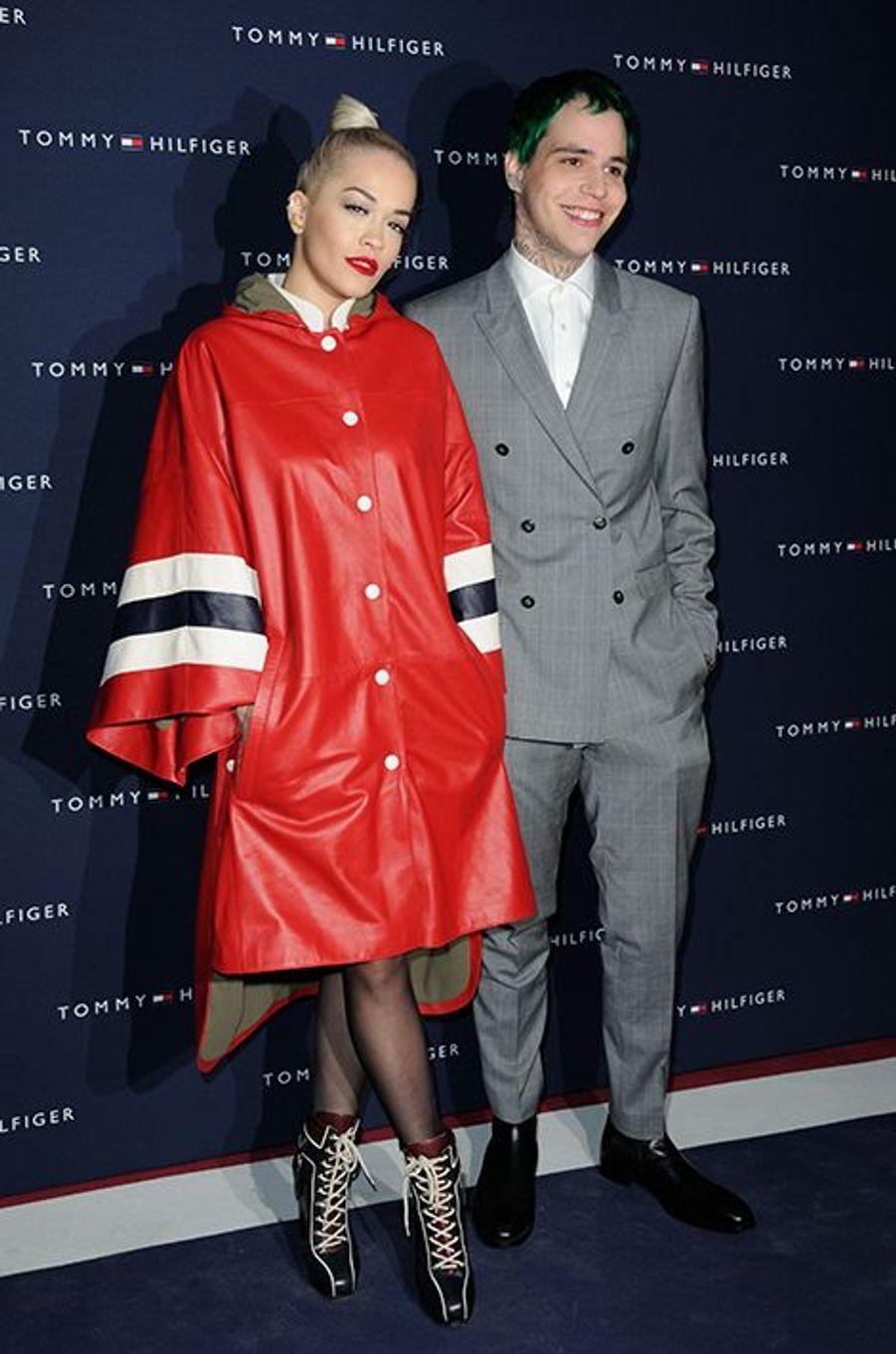 Rita Ora et Ricky Hilfiger à Paris le 31 mars 2015