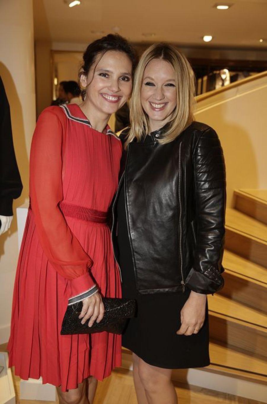 Virginie Ledoyen et Ludivine Sagnier à Paris le 31 mars 2015