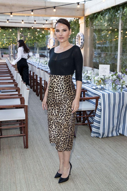 Virginie Ledoyenà la soirée organisée par Dior et «Vogue» au restaurantFred l'écaillerlors du 72e Festival de Cannes le 15 mai 2019