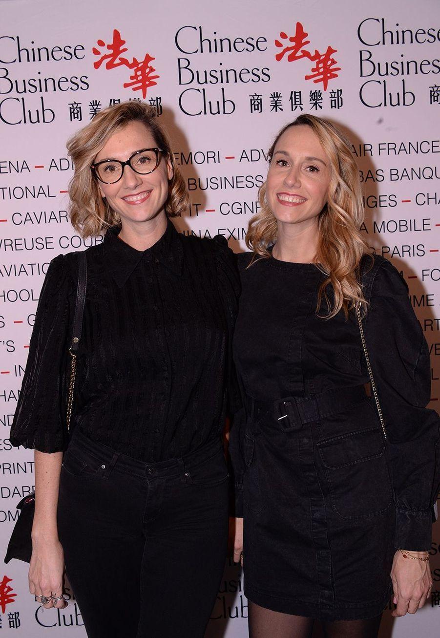 Anne-Sophie et Marie-Aldine Girardà la 5ème édition du Chinese Business Club à l'occasion de la journée internationales des droits des femmes à Paris le 9 mars 2020