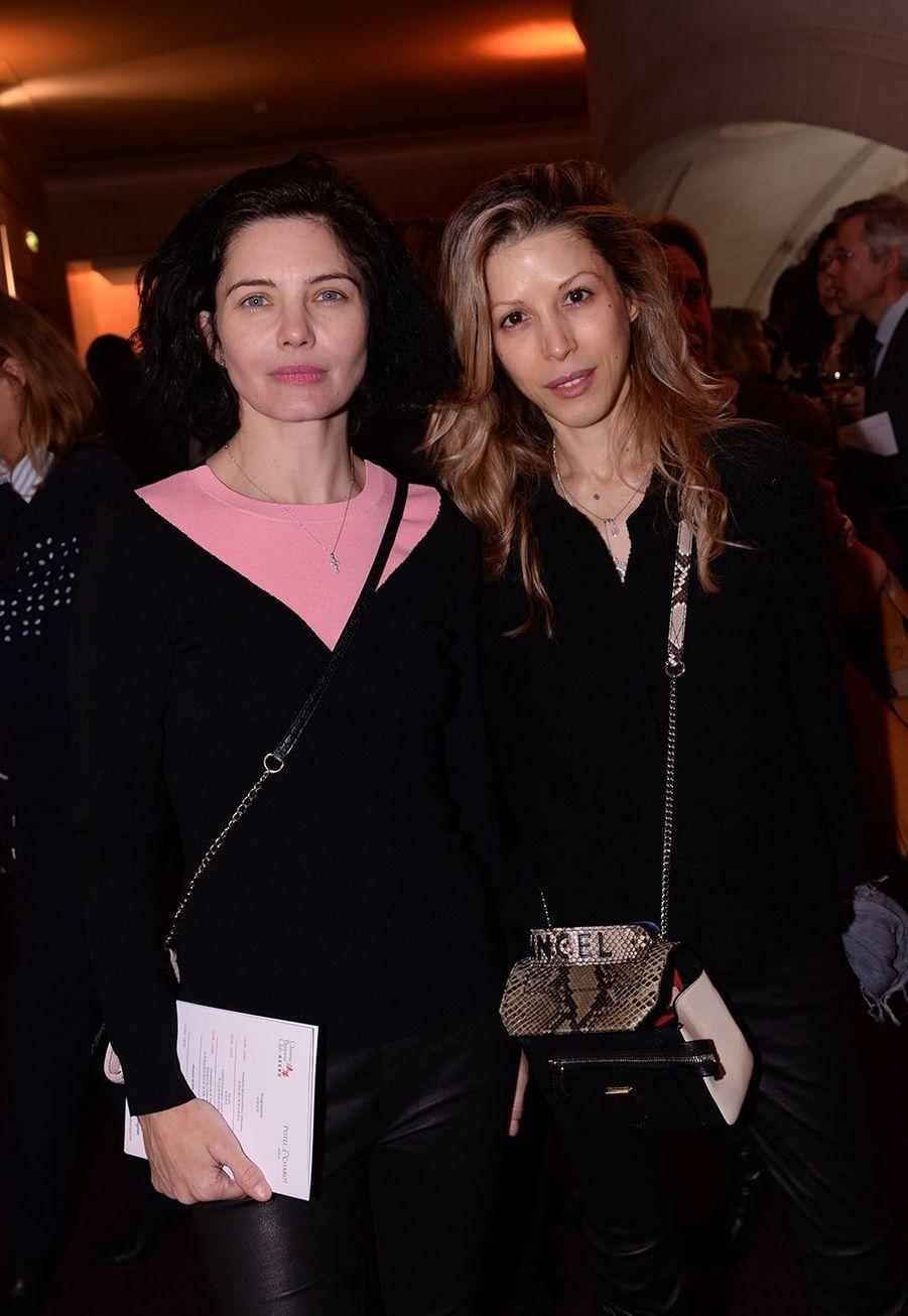 Delphine Chanéac et Tristane Banonà la 5ème édition du Chinese Business Club à l'occasion de la journée internationales des droits des femmes à Paris le 9 mars 2020