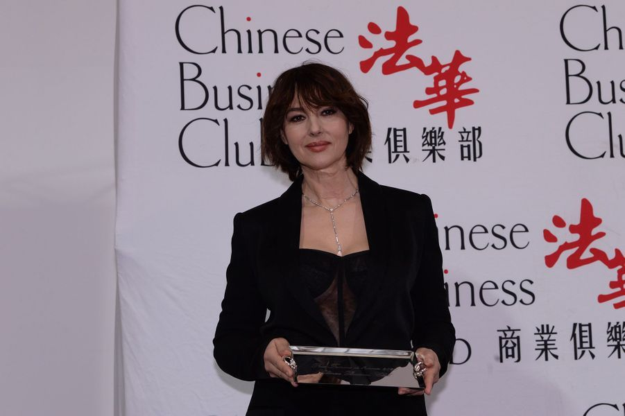 Monica Bellucci à la 5ème édition du Chinese Business Club à l'occasion de la journée internationales des droits des femmes à Paris le 9 mars 2020