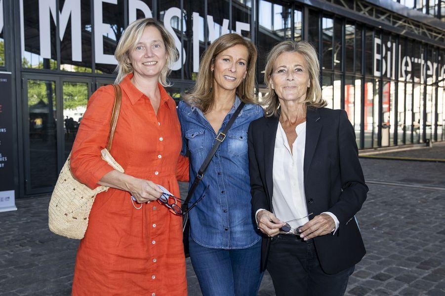 Isabelle Roche, Anne Gravoin et Claire Chazalà l'exposition Jam Capsule à la Villette à Paris le 22 juin 2020