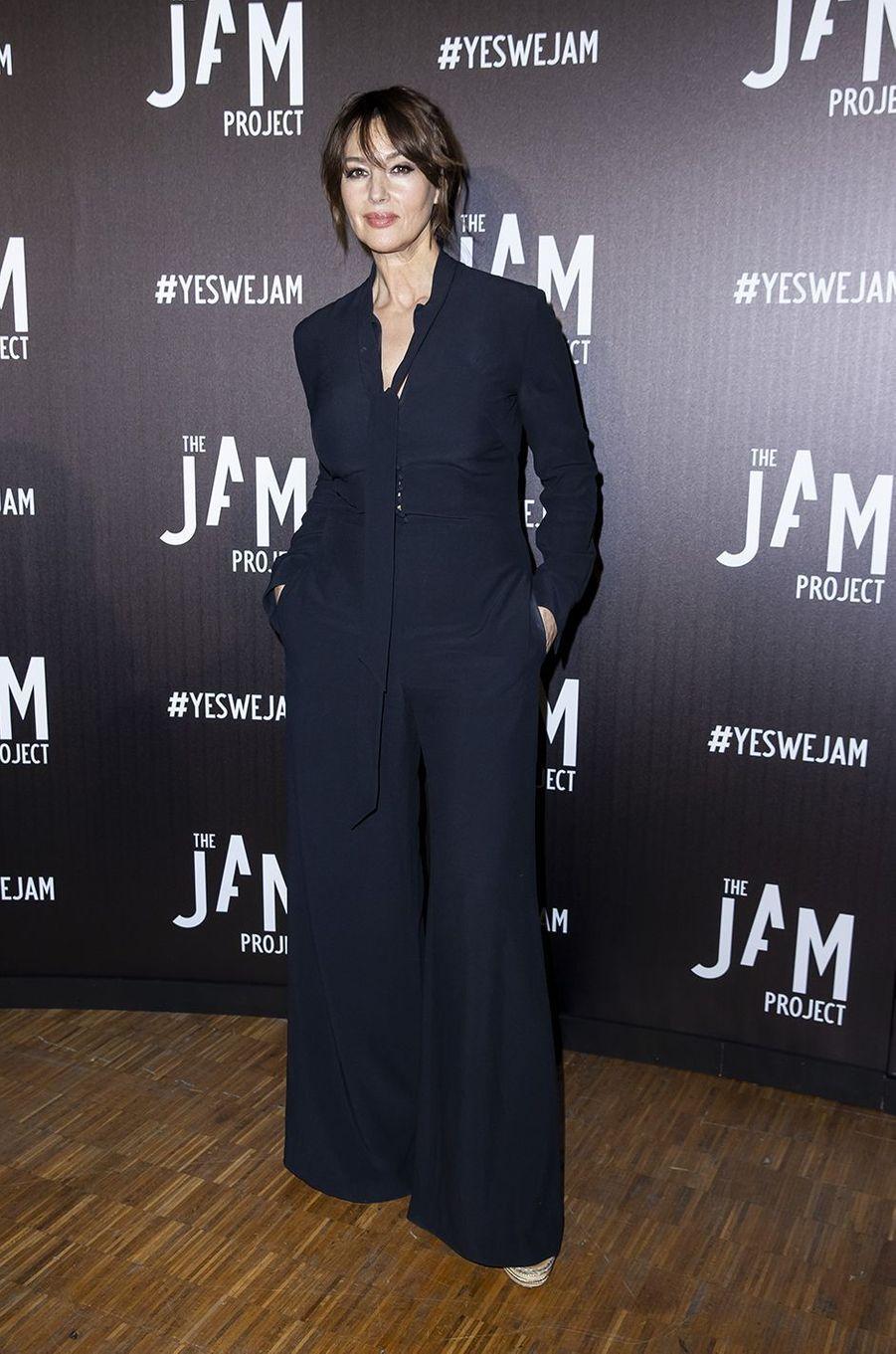 Monica Bellucci à l'exposition Jam Capsule à la Villette à Paris le 22 juin 2020