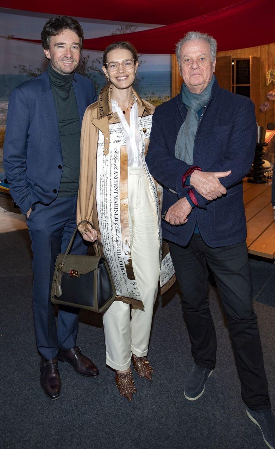 Antoine Arnault, Natalia Vodianova et Jacques Grange lors de la soirée HSBC au salon PAD (Paris Art Design) à Paris le 2 avril 2019.