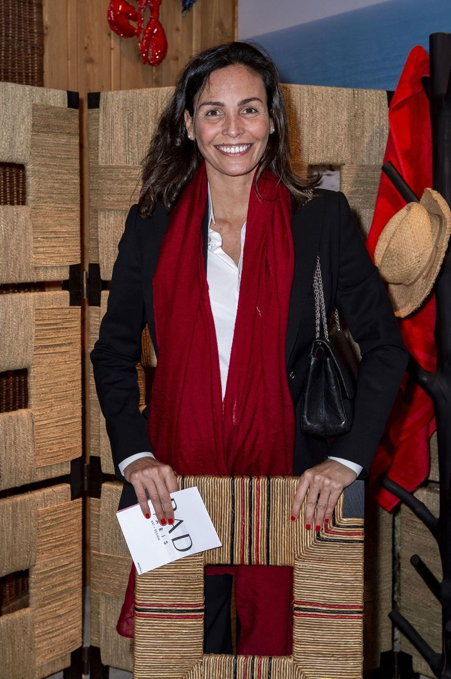 Inès Sastre lors du salon PAD (Paris Art Design) à Paris le 3 avril 2019.
