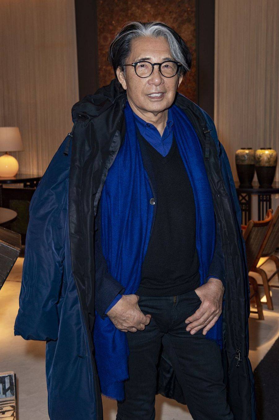 Kenzo Takada lors du salon PAD (Paris Art Design) à Paris le 3 avril 2019.