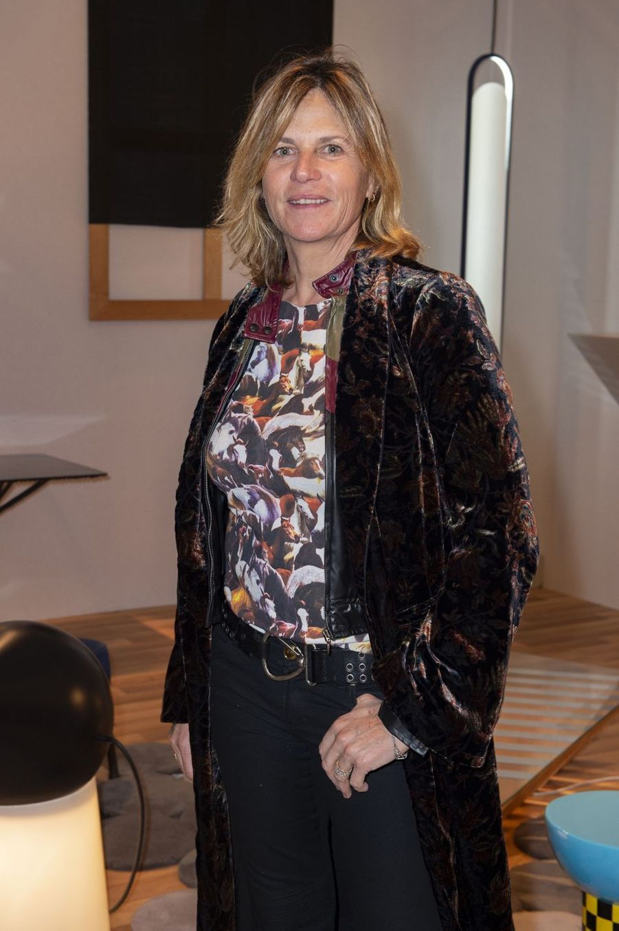Virginie Coupérie-Eiffel lors du salon PAD (Paris Art Design) à Paris le 3 avril 2019.