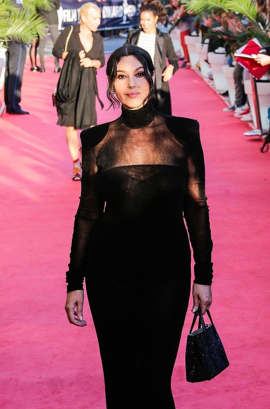 Monica Bellucci à la cérémonie d'ouverture du Dinard Film Festival, jeudi 27 septembre
