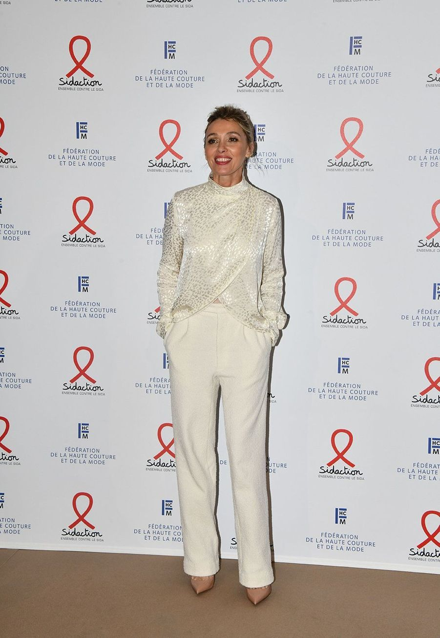 """Anne Marivinlors du """"Dîner de la mode du Sidaction"""" à Paris, le 23 janvier 2020."""