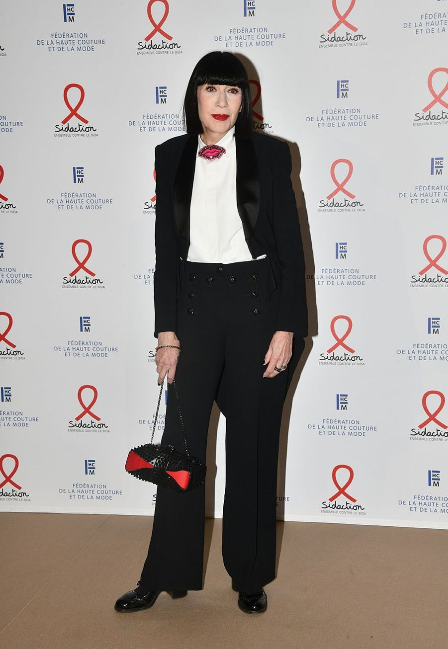 "Chantal Thomass lors du ""Dîner de la mode du Sidaction"" à Paris, le 23 janvier 2020."