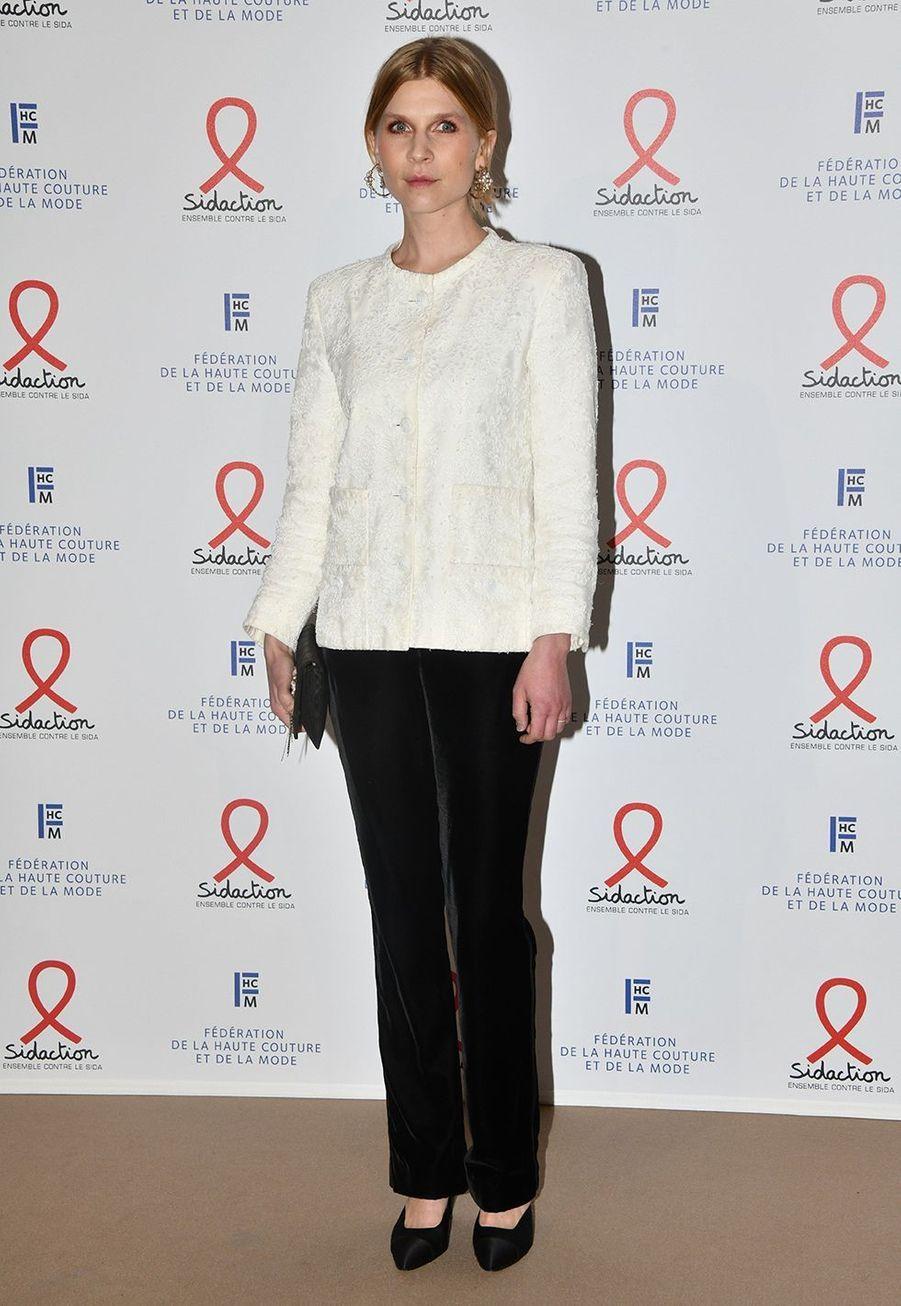 """Clémence Poésylors du """"Dîner de la mode du Sidaction"""" à Paris, le 23 janvier 2020."""