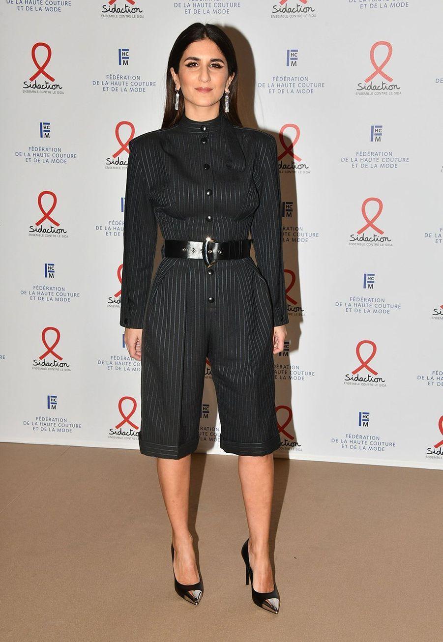 """Géraldine Nakachelors du """"Dîner de la mode du Sidaction"""" à Paris, le 23 janvier 2020."""