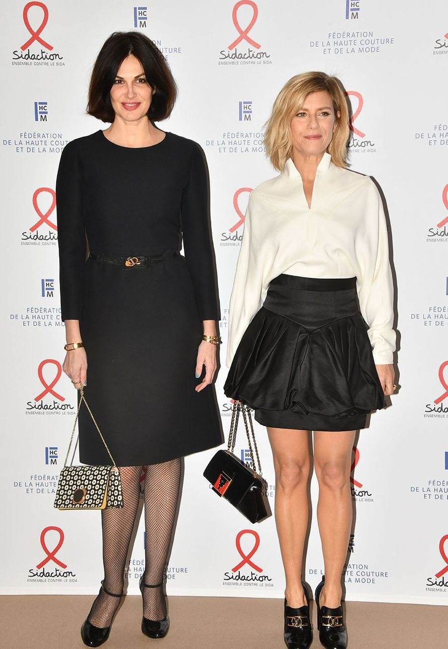 """Helena Noguerra et Marina Foislors du """"Dîner de la mode du Sidaction"""" à Paris, le 23 janvier 2020."""